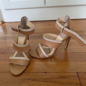 Isola Nude & White Heeled Sandals -6.5M